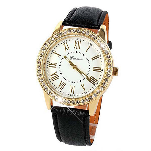 BLING GOLD CRYSTAL WOMENS WATCHES